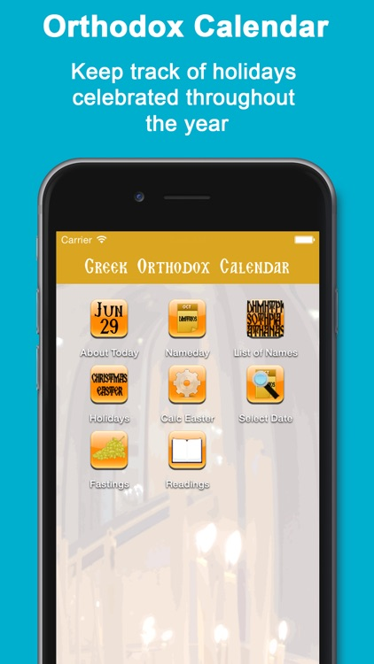 Greek Orthodox Calendar