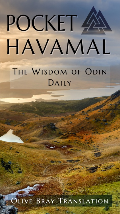 Pocket Havamal - Daily Asatru Meditations of Wisdom from Odin - Olive Bray Translation screenshot-0