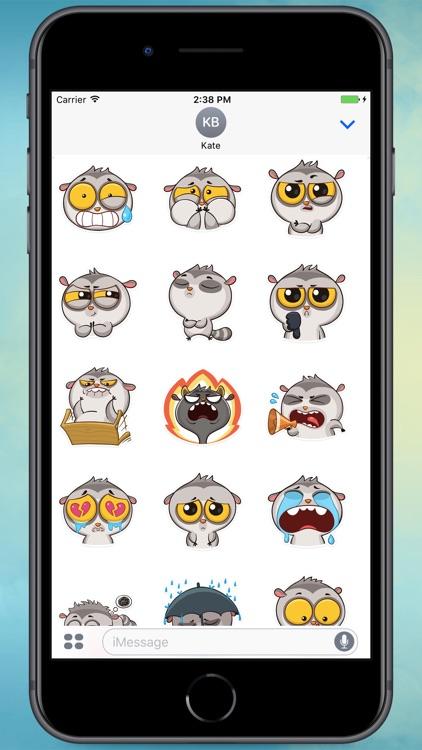 Bin The Lemur! Stickers