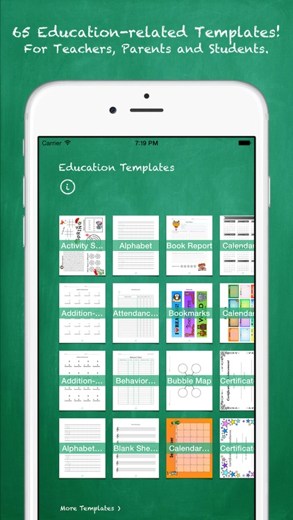 Education Templates for Pages