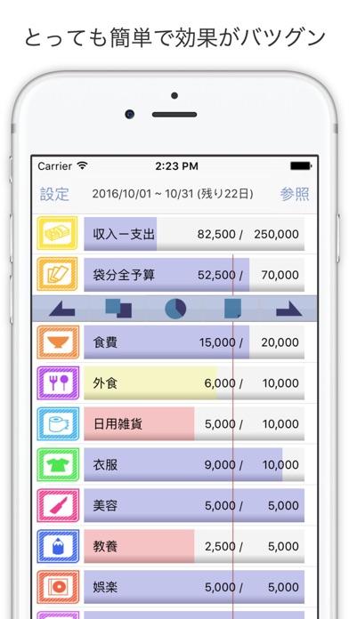 袋分家計簿 Pro - シンプル、簡単管理で効果はバツグン - ScreenShot0
