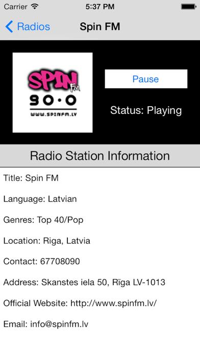 Latvia Radio Live Player (Latvian / Latvija / latviešu valoda) screenshot two