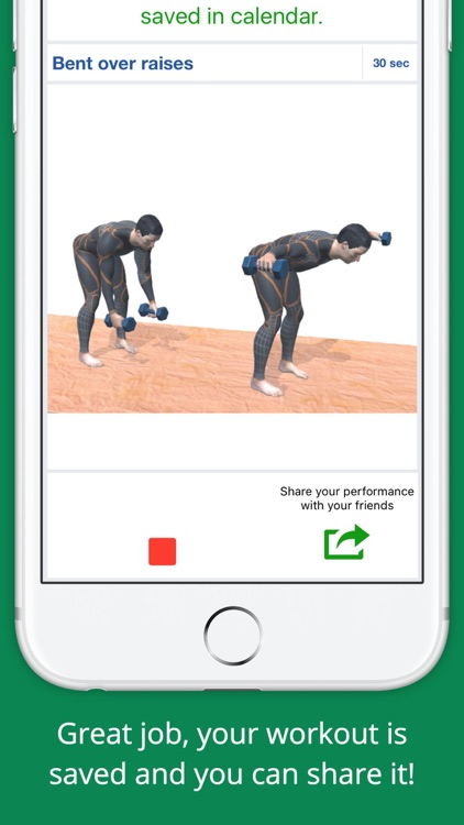 Upper Body Challenge Workout with dumbbells PRO screenshot-3