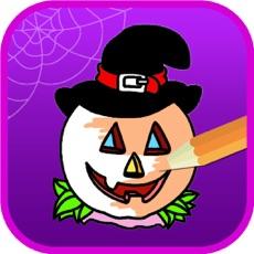 Activities of Halloween Coloring Pages - Haunted Halloween