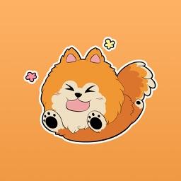 Kelso the Pomeranian - Dog Stickers