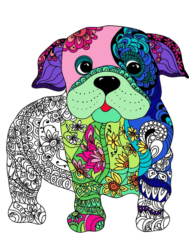 Mandalas De Perros Para Colorear Adultos Pro