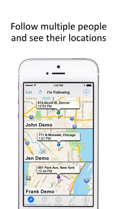 GPS Phone Tracker for iPhones Screenshot 2
