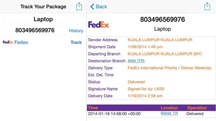 Parcel Tracker screenshot-0