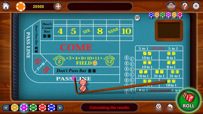 Craps - Vegas Casino Craps 3D Master Dice Shooter Screenshot