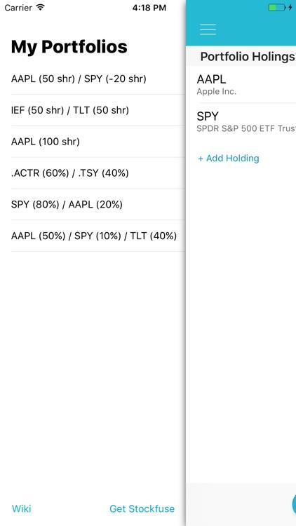 Stockfuse Lookback – Backtest Stock Portfolios screenshot-3