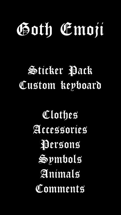 Goth Emoji