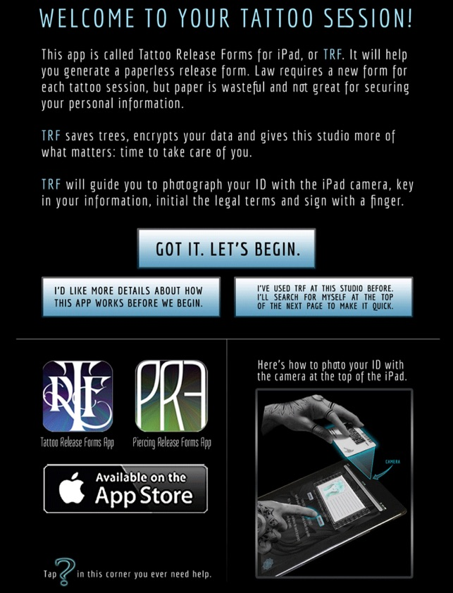 Tattoo Release Forms On The App Store