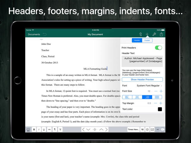 mla format and document writer on the app store