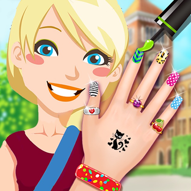 "Nail Girl Games: App Store 上的""High School Nail Art Nail Salon"