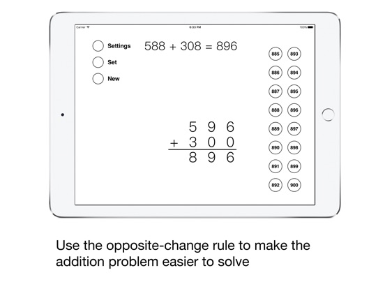 Opposite-Change Addition Screenshots