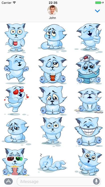 White Cat - Stickers for iMessage