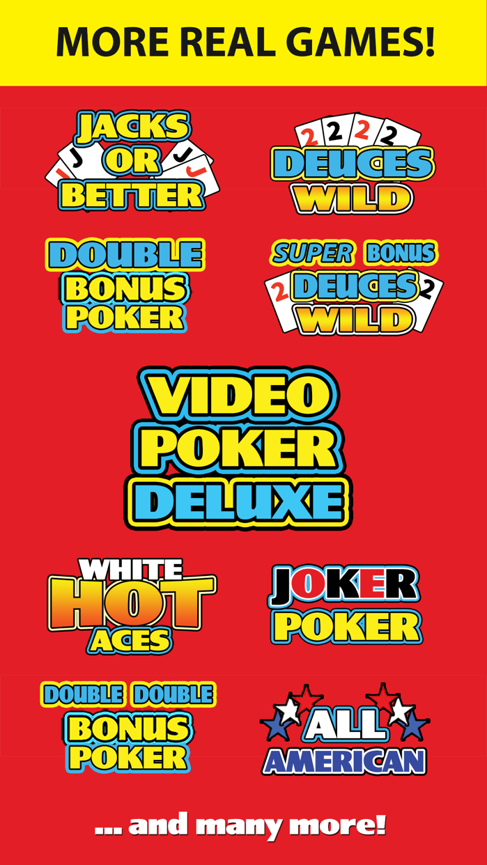 Video Poker Deluxe Casino Screenshot