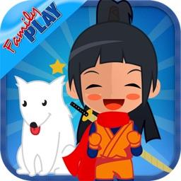 Ninja Girl Alphabet Animals for Preschool