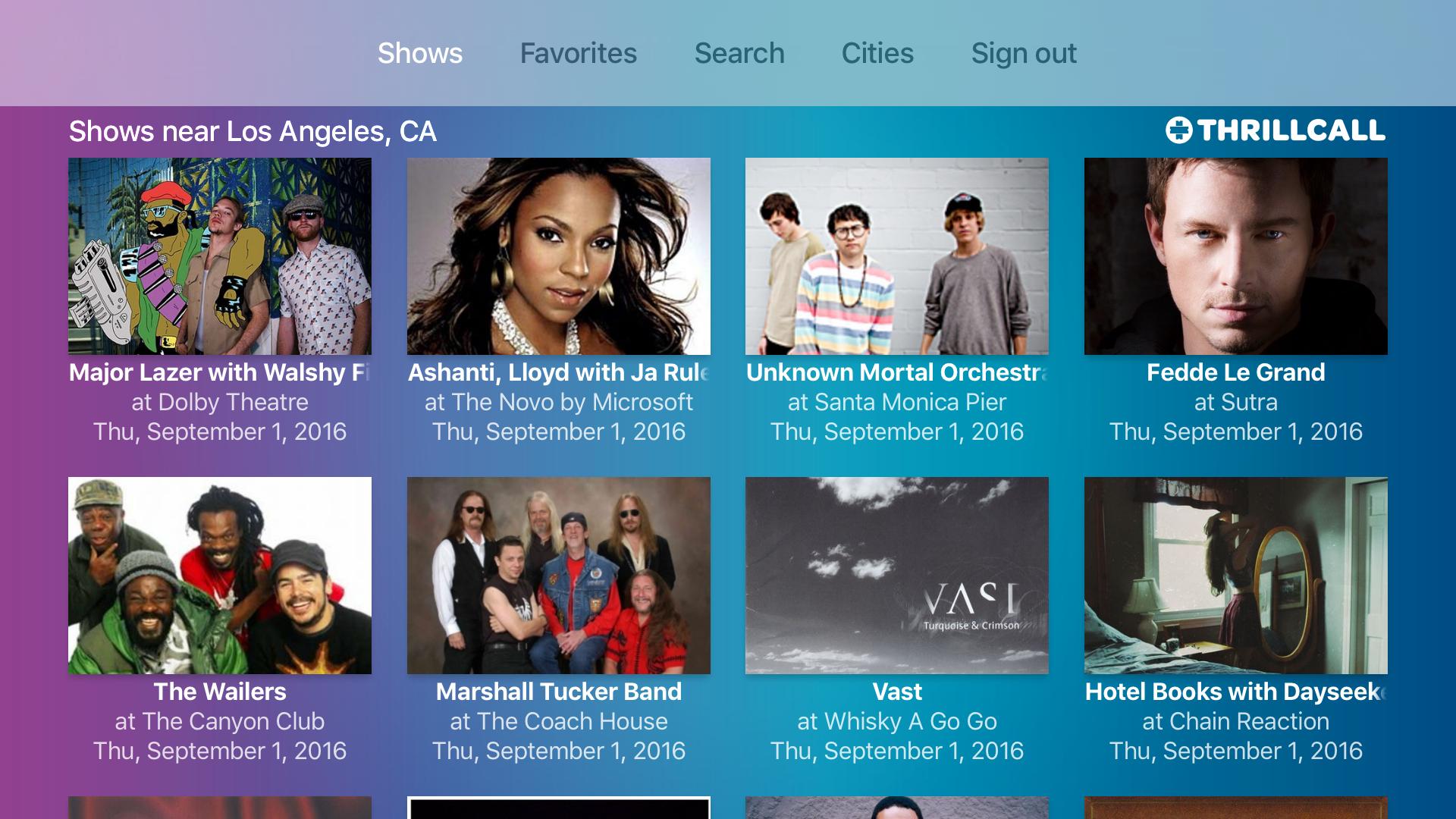 Thrillcall Live Music screenshot 6
