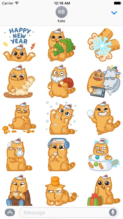 Holiday Cat - Stickers Xmas and New Year Edition