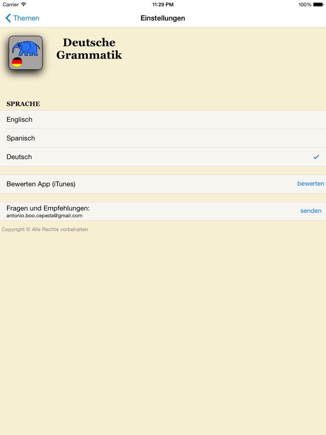 Deutsche Grammatik Im App Store