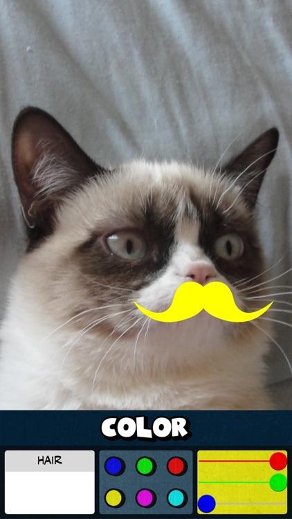Mustache Color Stickers