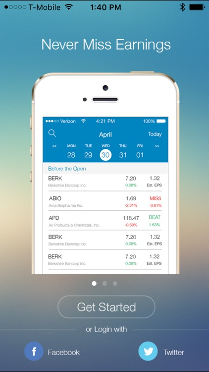 EarningShark : All-In-One Earnings Calendar screenshot-0