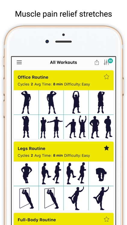 7 min Stretching Routines Tiga screenshot-0