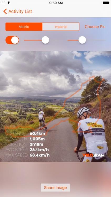 Velogram for Strava Cycling
