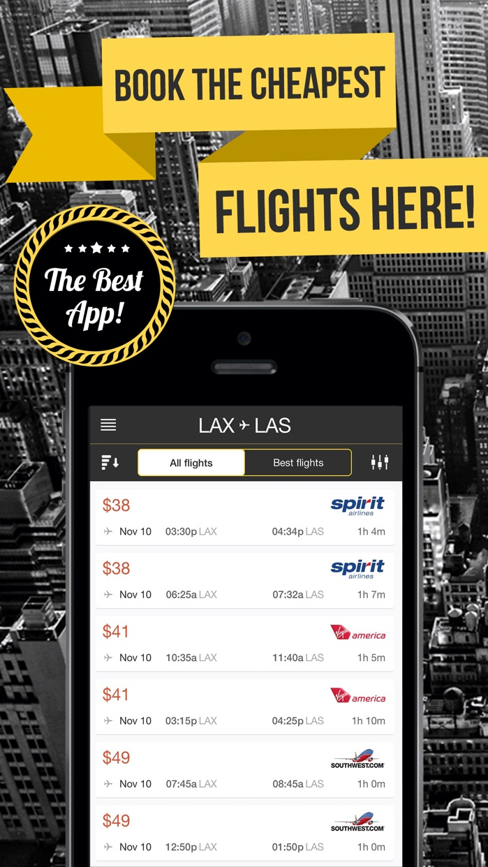 Last Minute - Best Airfare Deals! Search Cheap Flights 729 Airlines Screenshot