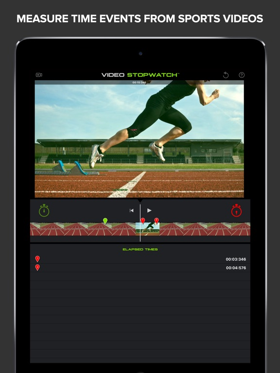 Screenshot #1 for Video Stopwatch - Time Analysis for Sports and Physics