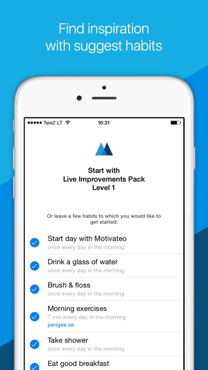 Motivateo — daily routine, goals & habits tracker.