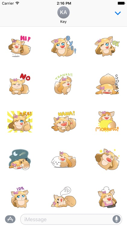 Fox Girl Sticker For iMessages