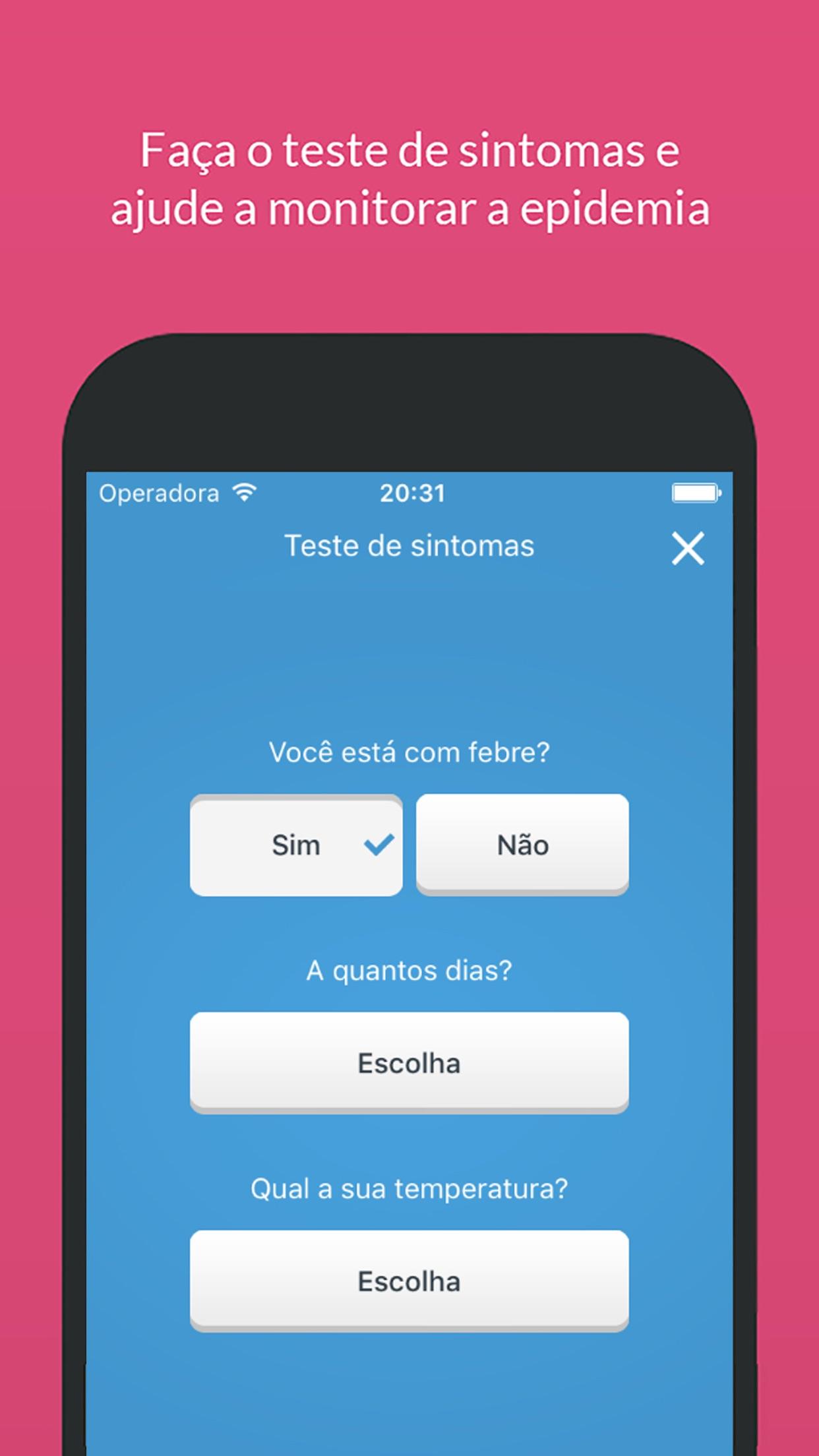 Screenshot do app Sem Dengue