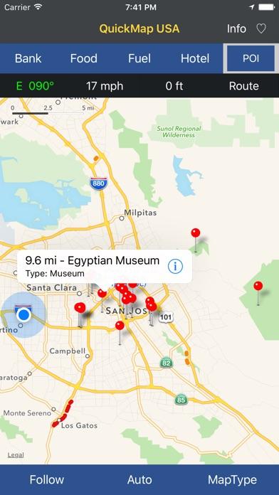 QuickMap USA Screenshots