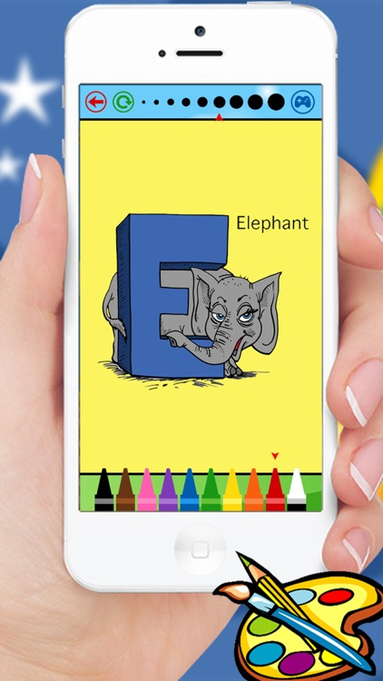 ABC Animals coloring book for kindergarten kids and toddlers screenshot-3