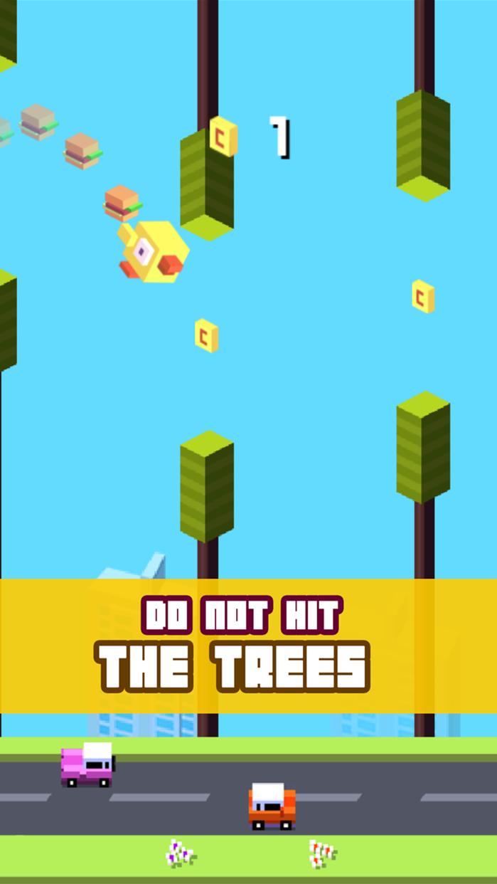 Crossy Tiny Bird Tappy - Sky Surfers Jumping Screenshot