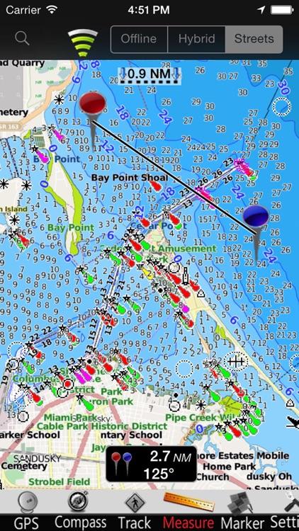 US Great Lakes GPS Nautical charts screenshot-3