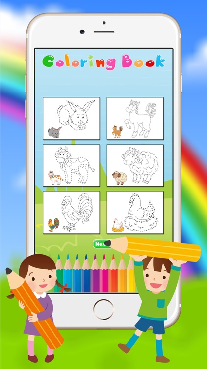 Animals Coloring Book - Drawing Connect dots for kids games