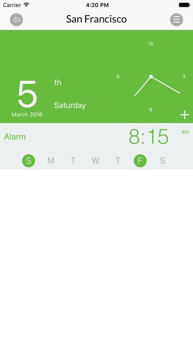 World Clock for iPhone screenshot two