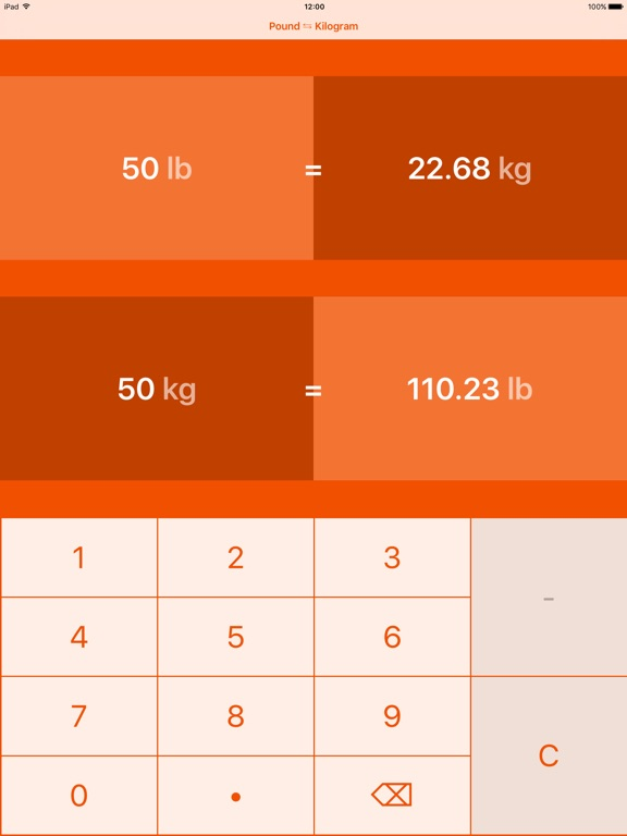 Screenshot 2 For Pounds To Kilograms Pound Kilogram Lb Kg
