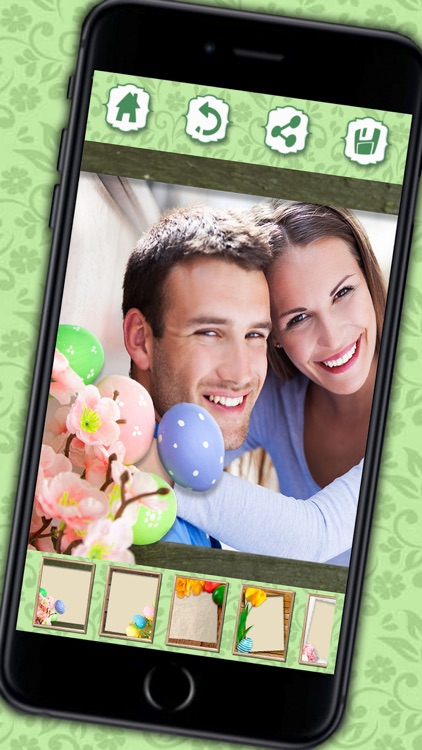 Photo editor of Easter Raster - camera to collage holiday pictures in frames