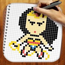 Easy Draw Super Heroes Pixel