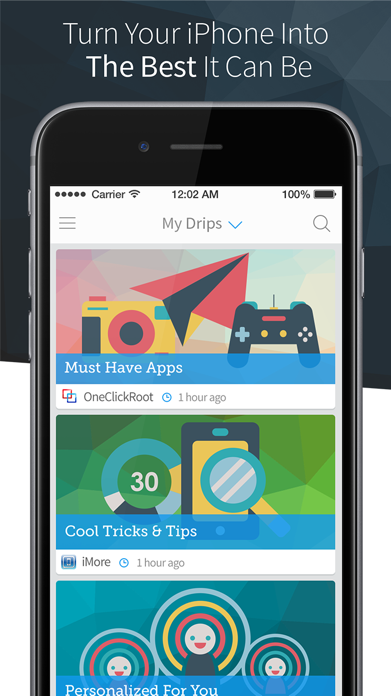 Drippler: Discover Apps & Tips Screenshot