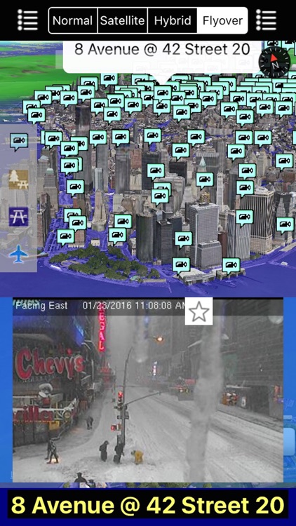 New York/NYC NOAA Radar with Traffic Cameras 3D Pro