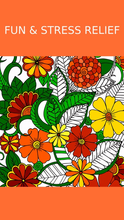 Floral Coloring Book For Adults: Best Free Adult Coloring Therapy Pages - Anxiety Stress Relief Balance Relaxation screenshot-3
