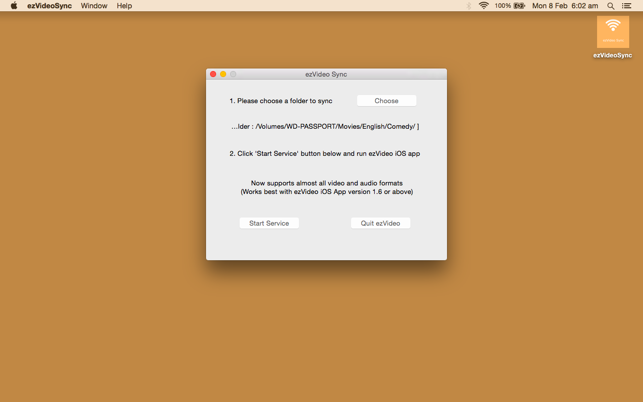 ezVideo Sync on the Mac App Store
