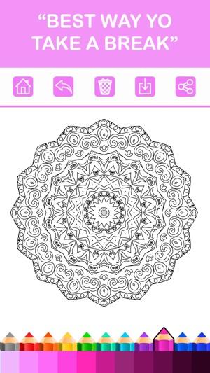 Mandala Boyama Kitapları Renk Terapisi ücretsiz Stres Giderici