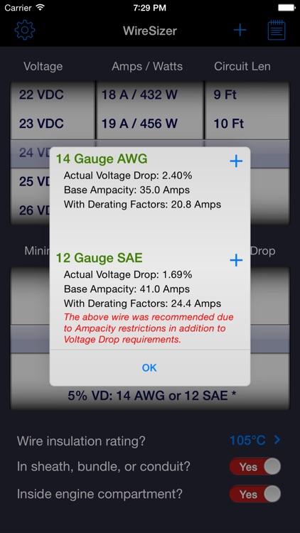 WireSizer - DC Voltage Drop Calculator screenshot-4