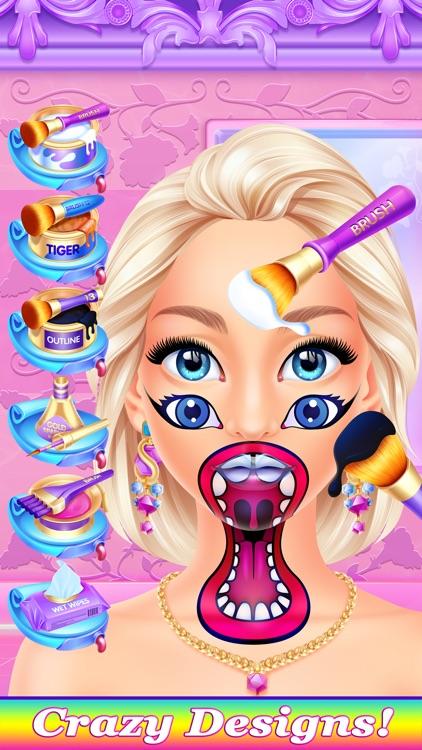 Crazy Face Paint Party Salon - Makeup & Kids Games screenshot-3